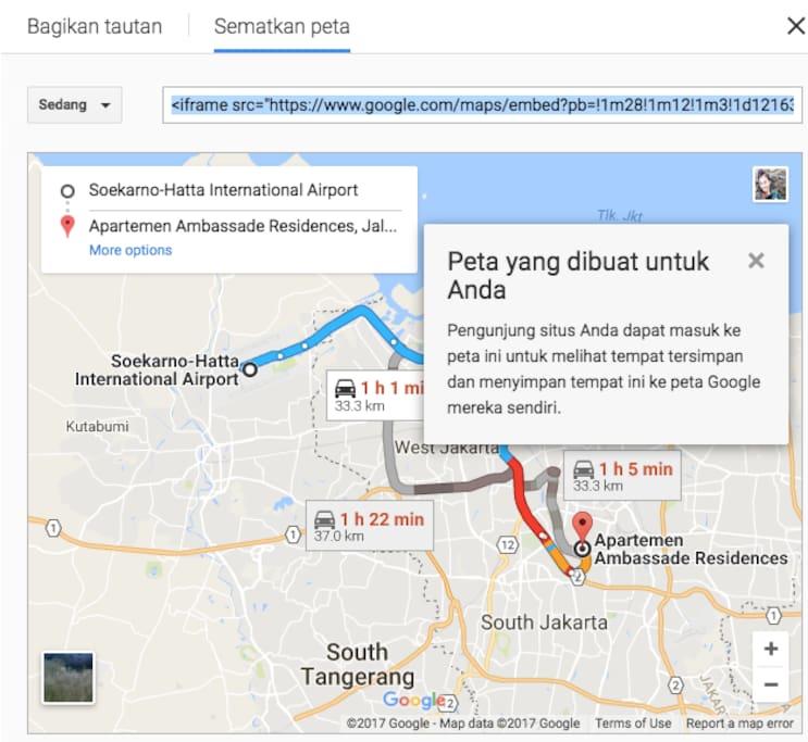 """Keyword in Map : """"Apartemen Ambassade Residence"""""""