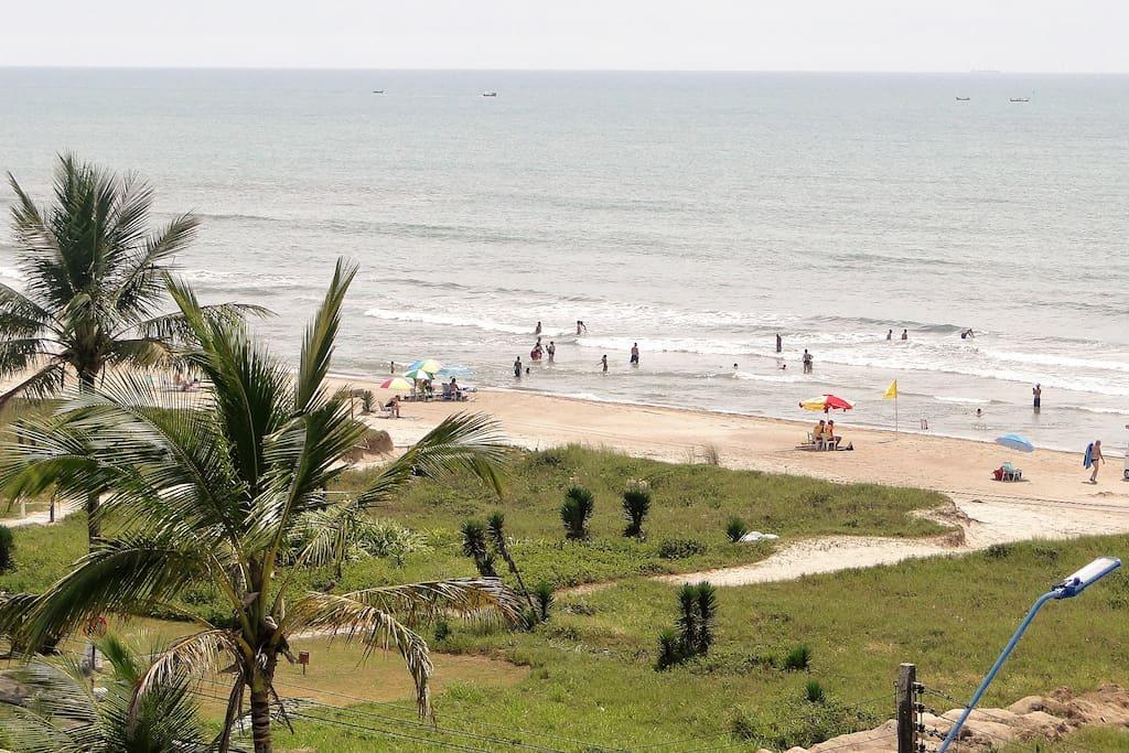 Vista da praia, a partir do terraço