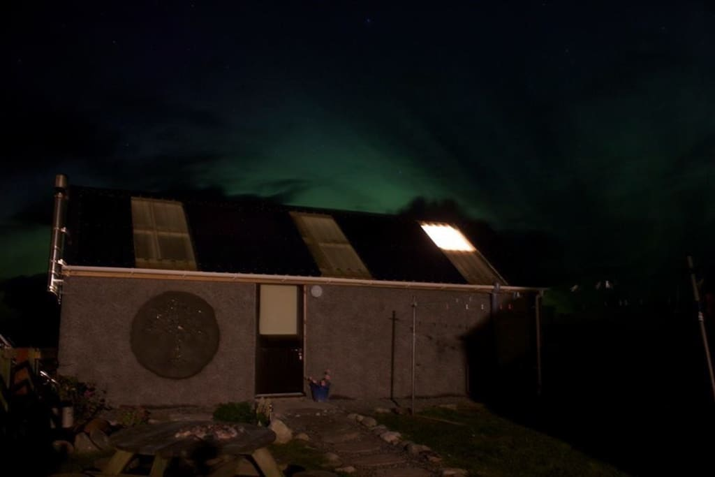 The Northern Lights over The Barn