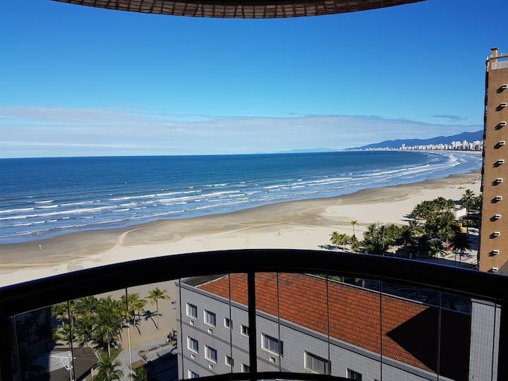 Apto 3 quartos completo,  C.Forte, Praia Grande-SP