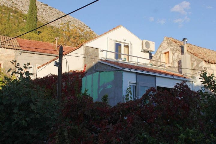 Studio flat with balcony and sea view Trsteno, Dubrovnik (AS-8594-a) - Trsteno