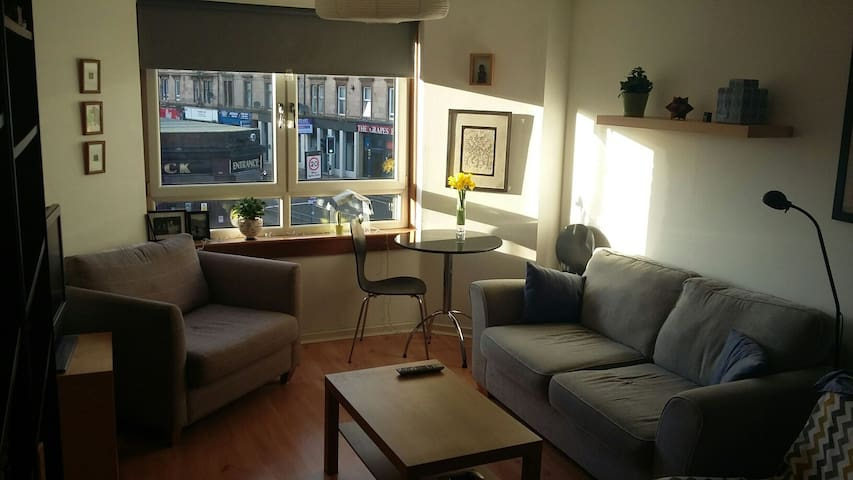 Modern flat, close to subway - Glasgow - Wohnung