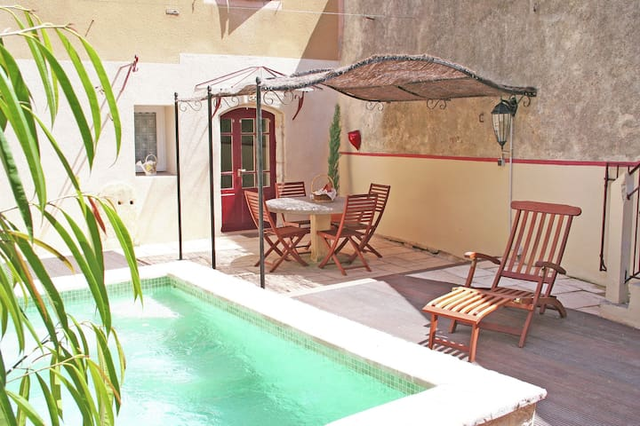 A beautiful little village house; well laid out and decorated with a great deal of taste.