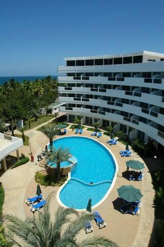 Apartamento para 4pax Frente al Mar - playa el agua