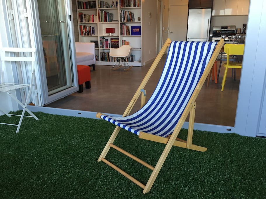 Lounge Chair on the front terrace
