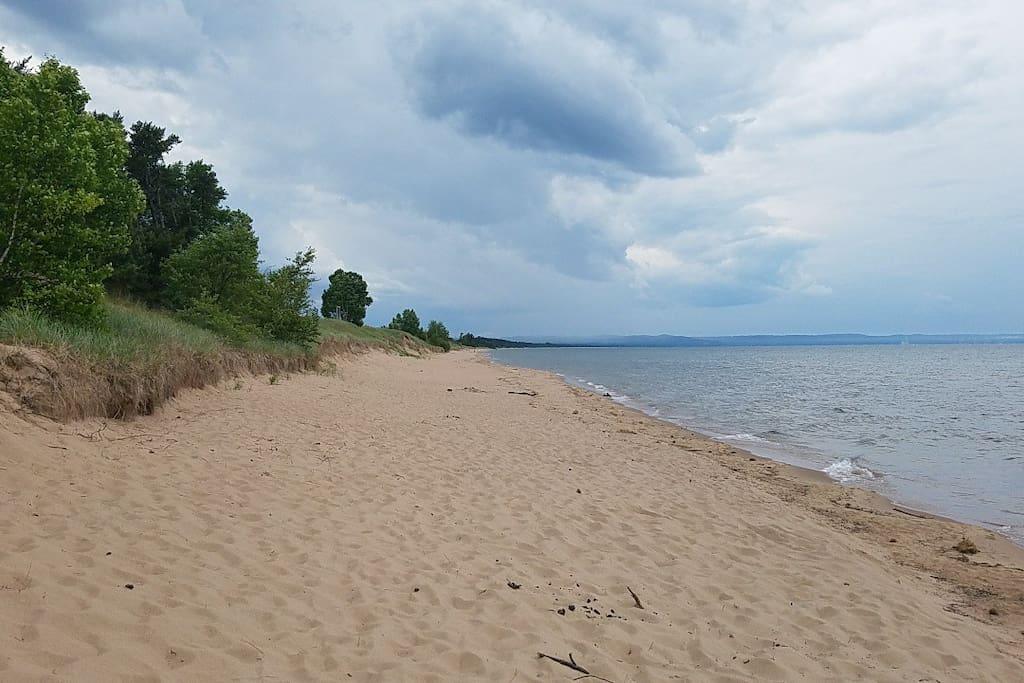 Lake Superior sandy beach