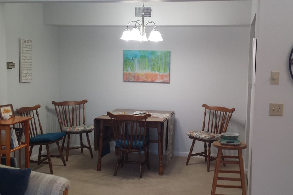 Dining area from living room
