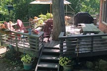Deck area with propane grill