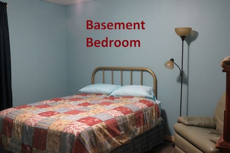 ROSEDALE LODGE--Basement Bedroom- 1 Queen Bed