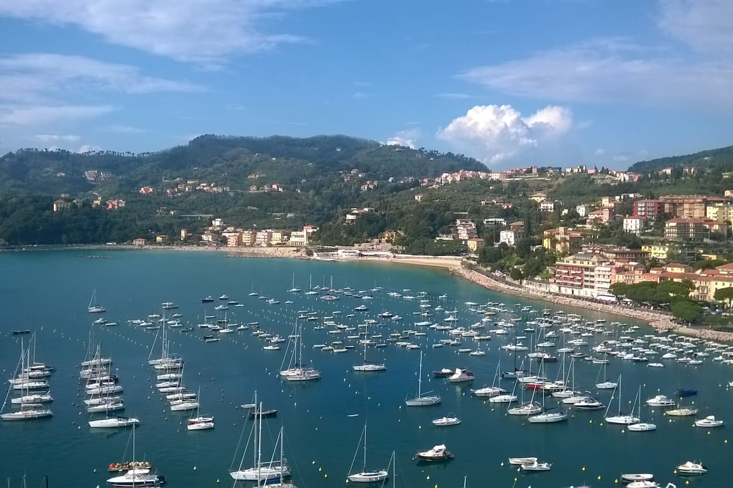Landscape from the castle of Lerici
