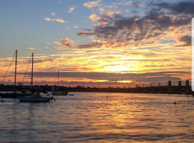 Beautiful sunset views of Historic Saint Augustine, Florida.