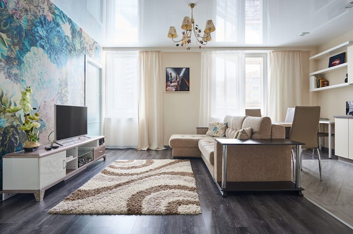 Bright, Spacious and Cozy apartment in Minsk