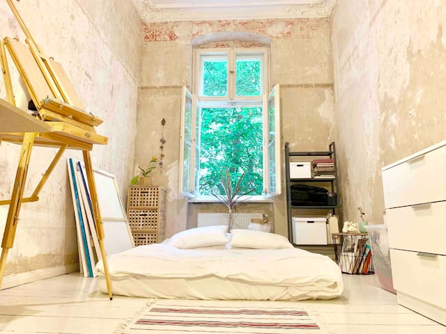 Beautiful White Artist Bedroom