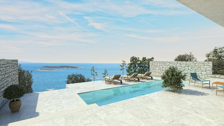 Beautiful Villa Visola, on the Island of Vis