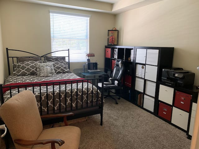 Cozy Guest Bedroom and Work Space
