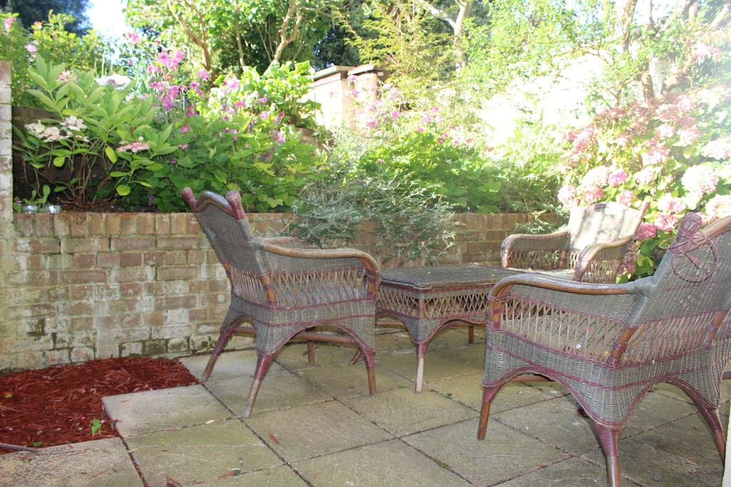The Front patio for evening sun