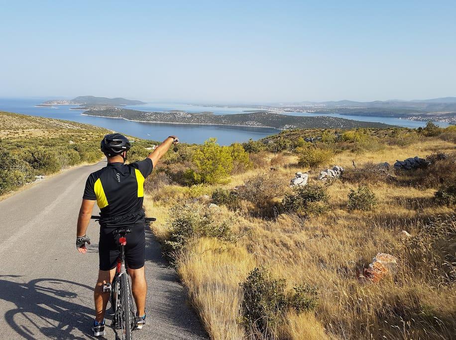 biciklističke staze s predivnim pogledom na okolicu
