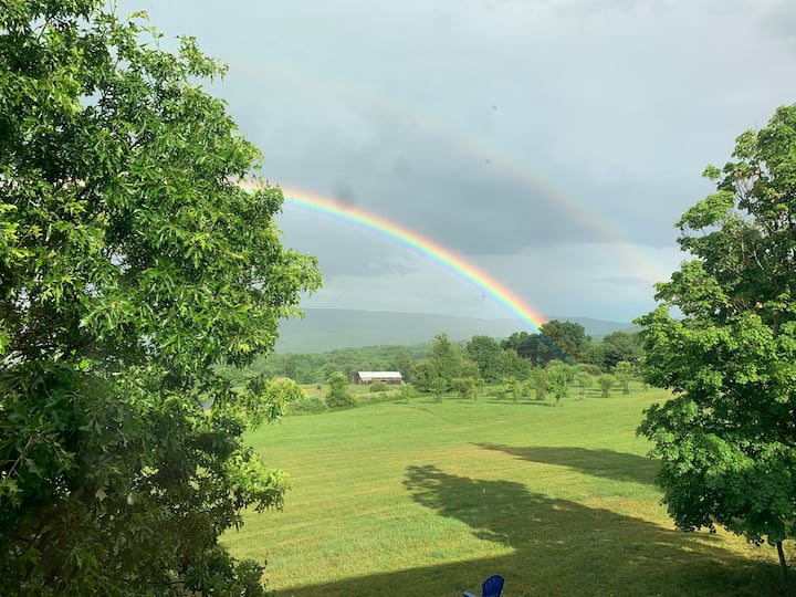 Hillside Retreat organic farm on 150 bucolic acres