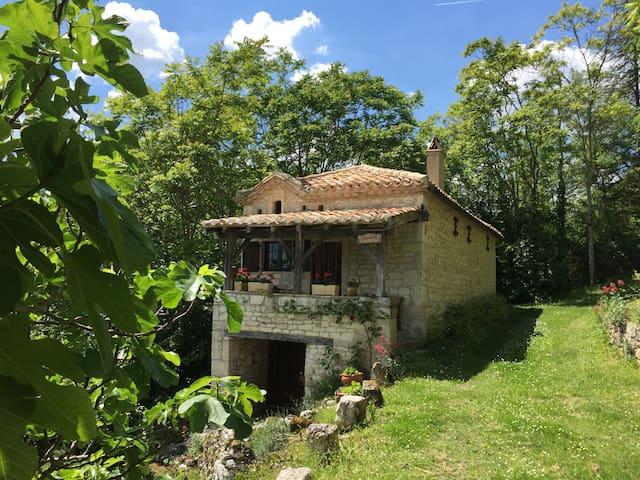Petite maison pittoresque dans la nature..