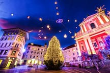 Prešeren square is a 5 min walking distance from the apartment Foto: Global storybook