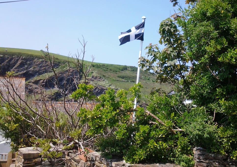Flying the Cornish flag