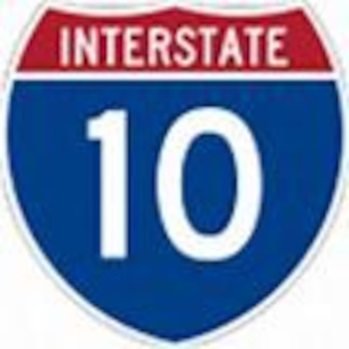 E-Z on, E-Z off the i10 corridor which stretches from coast to coast. Take Prince exit and you're home!
