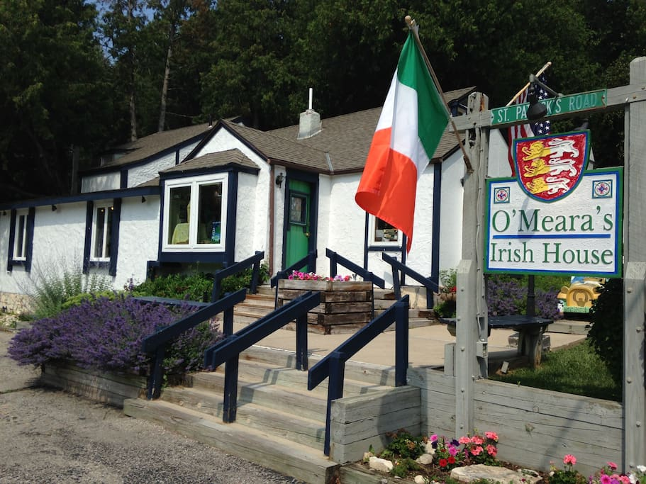 Picture of our store, O'Meara's Irish House, where you check in upon arrival.