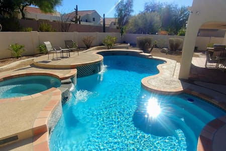 Golf course getaway with private pool and hot tub!
