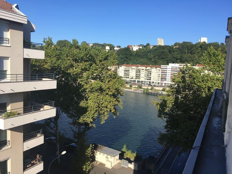 Excellente vue de la Saône depuis la chambre