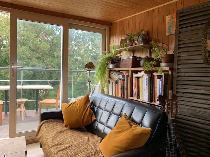 Chambre sous les toits avec terasse privative