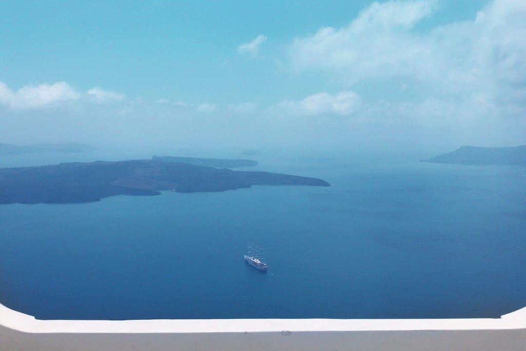 Caldera view from balcony