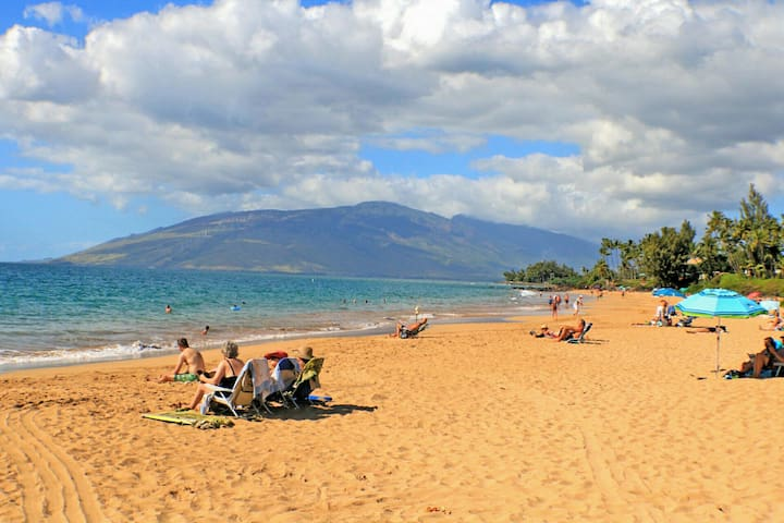 Kamaole I Beach is connected to Charley Young Beach located half a block away