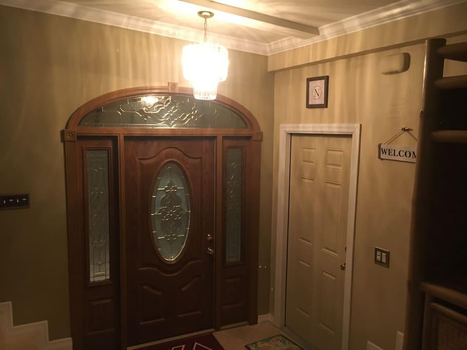 Main front door entrance.