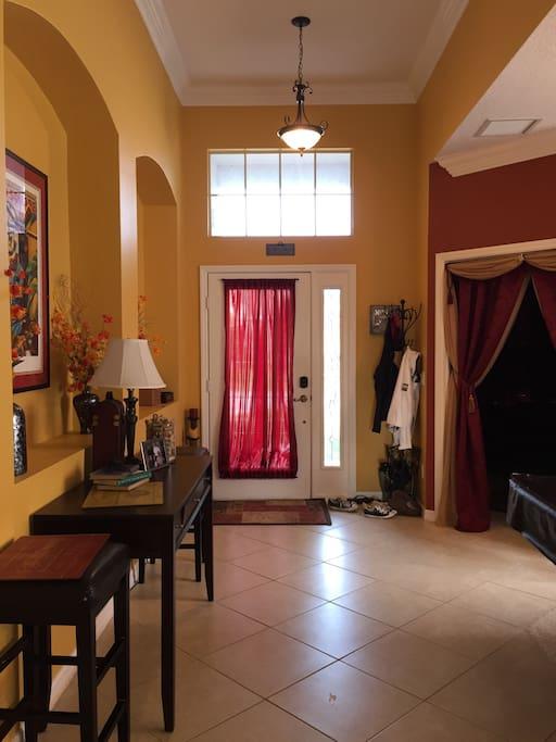 View looking at front door