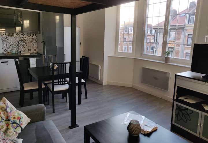 Studio 30 m2 au pied de la gare Lille Flandres