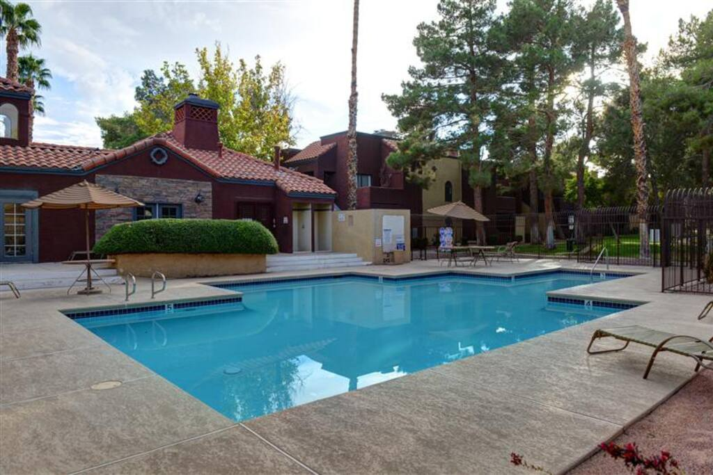 Soak up the Nevada sun by the community swimming pool