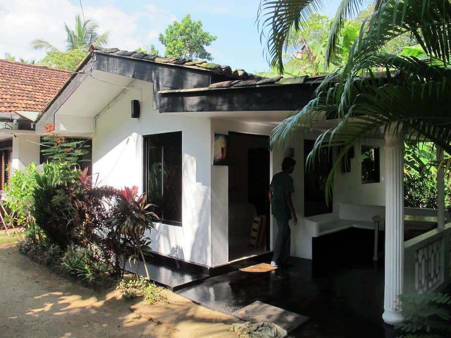 Safe and secure accommodation situated next to a Sri Lankan family home. A chance to experience real Sri Lankan life.