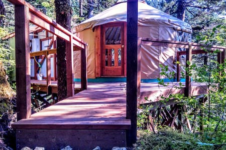 Oceanfront Yurt with Boat Tour #2 - Seward