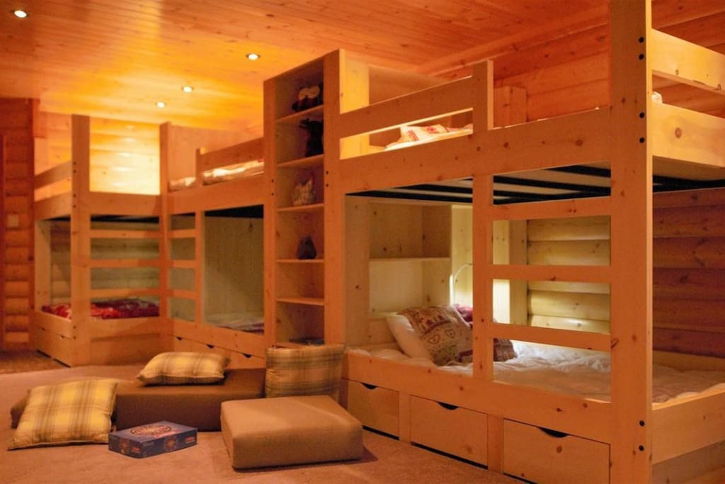 The dormitory on the ground level can comfortably sleep up to 6 in bunk beds.