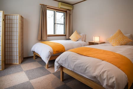 Sheltered Inn Hakuba Double/Twin room - Hakuba-mura - Bed & Breakfast