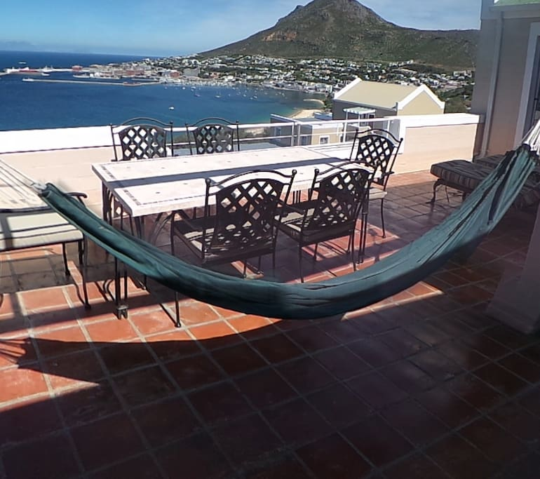 Relax in the hammock and enjoy the view from the penthouse patio