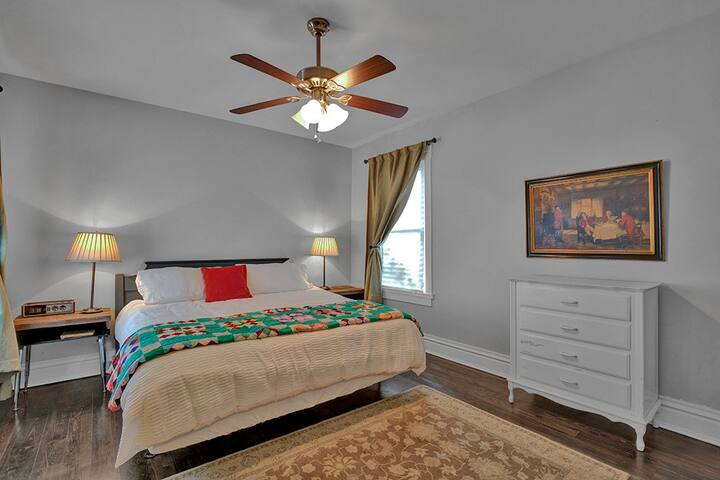 Spacious, comfortable master bedroom with a king bed when you're ready to rest.
