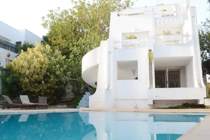 Villa with 5 bedrooms in Gammarth Supérieur, with private pool, enclosed garden and WiFi - 400 m from the beach