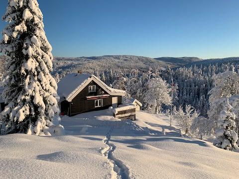 Hytte like ved Nordmarka