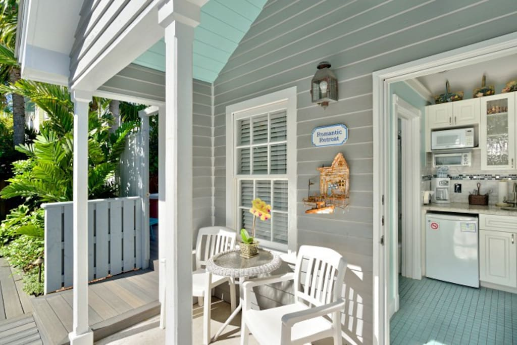 Looking in front door, your front porch to enjoy your coffee and beverages.  This unit is also handicapped accessible.