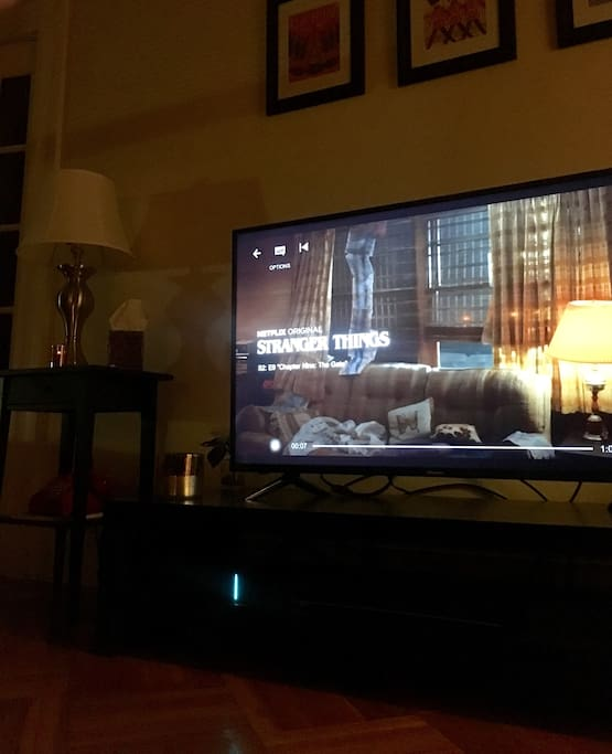 TV with HD channels and high-speed internet included.