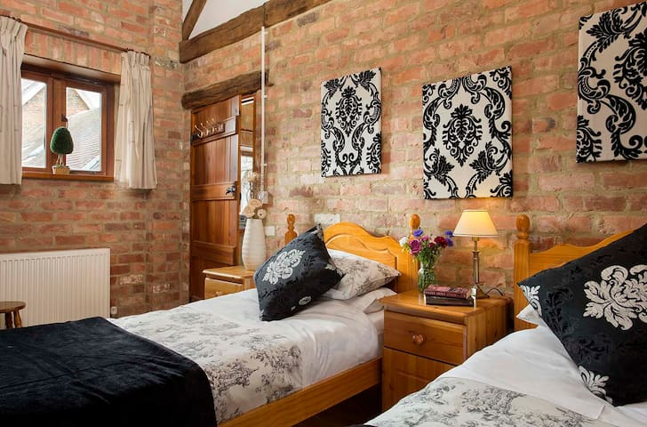 Two single beds in twin room