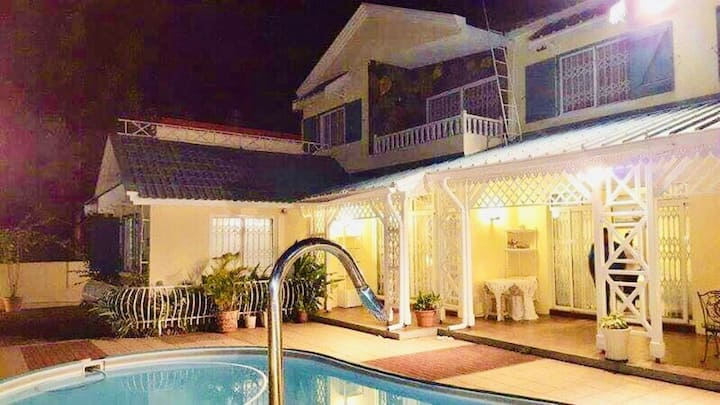 Villa with 3 bedrooms in Flic en Flac, with private pool, terrace and WiFi - 100 m from the beach
