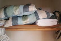 Closet Shot #2 (Extra Pillows, Blankets, Linens, Towels)
