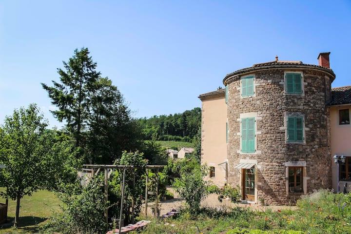 Chambre Evasion dans maison d'hôtes en Beaujolais